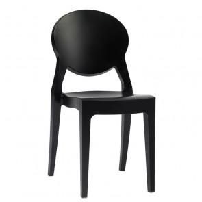 Igloo Chair spisebordsstol i blank sort
