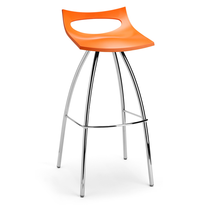 Image of   Barstol - Diablito orange 65 cm