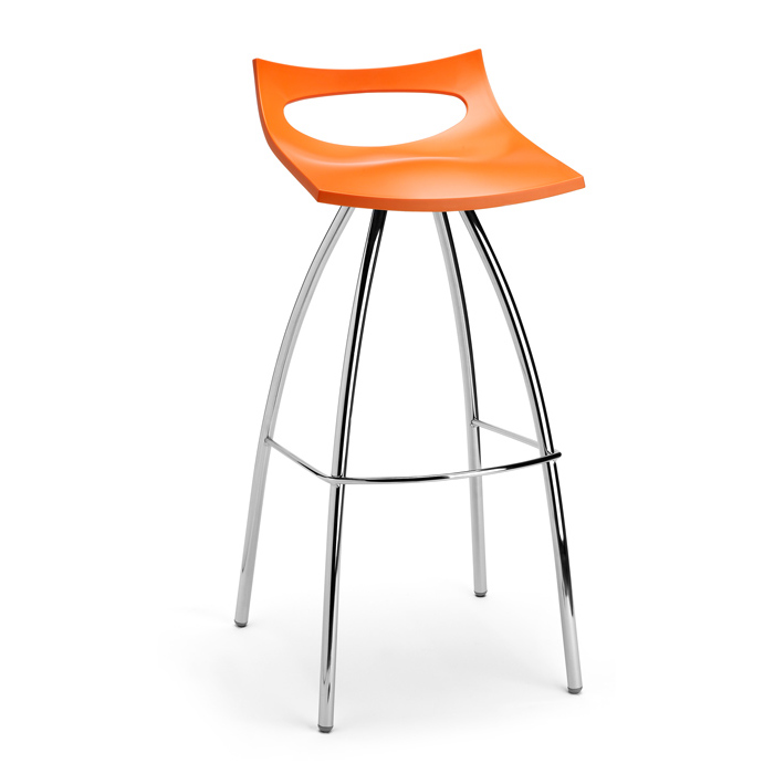 Image of   Barstol - Diablito orange 80 cm